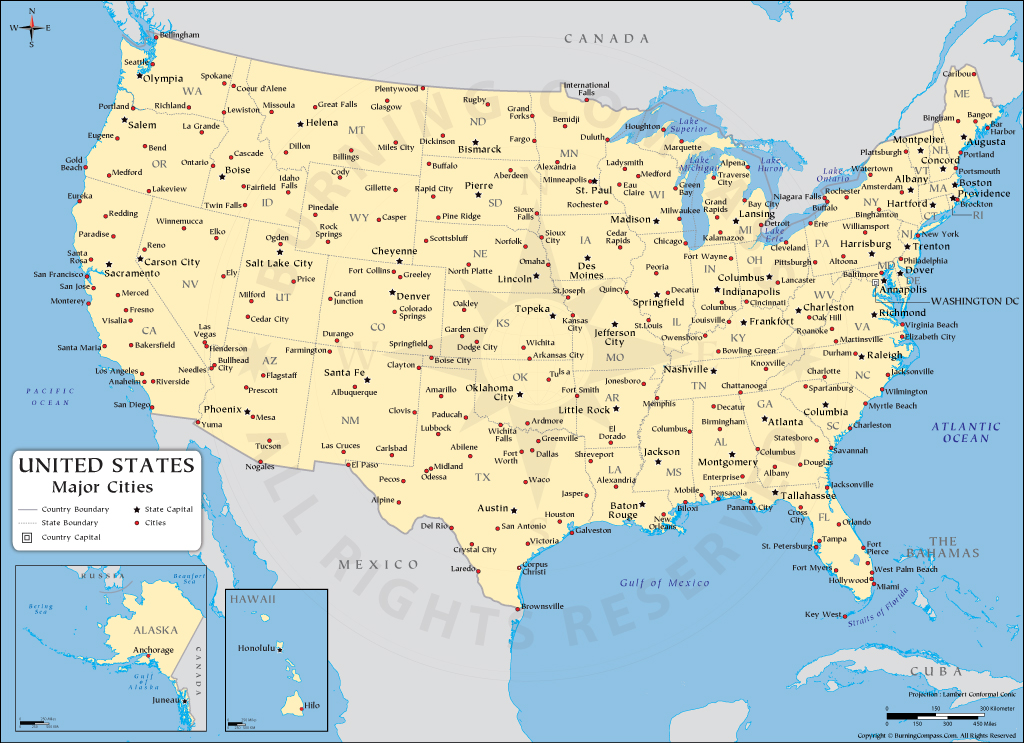 These cities are losing people so quickly that they may not be considered a city for much longer. Us Cities Map Us Major Cities Map Usa Map With States And Cities
