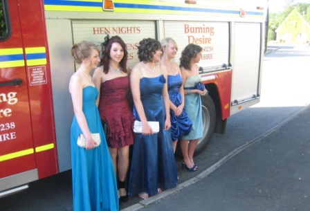Fire engine limo hire Cheshire
