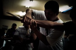 Young recruits are trained in martial arts and weaponry - 2009