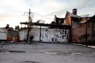 Uzbek vicinity in Osh several days after the ethnic clashes. SOS is written everywhere in Osh Uzbek districts.