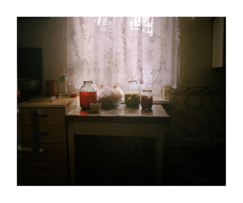 Jars of pickeled vegetables, Rybnitsa.