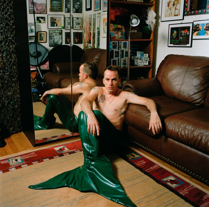 Robert wears his mermaid costume, one of the many costumes he dresses in. Queens, NY