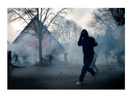 Blackblock anarchists. During the G20 and NATO Summit. Strasbourg.