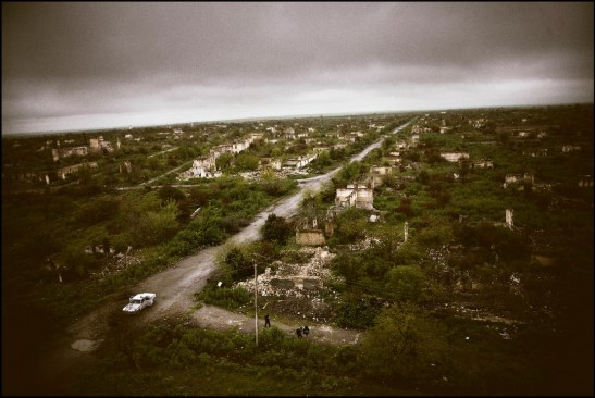 Ghost town of Agdam, Azerbaijan City razed to the ground in August 1992 by the Russian-Armenian army.