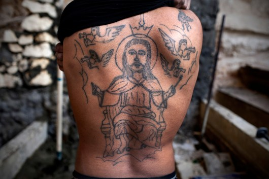 Among the coptic community tattoos are often used to point out the christian identity. Moquattam, Cairo, 2011.