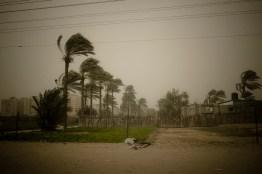 Sand storm. Middle Area. Gaza Strip. 12-12-2010.