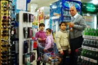 Family in Basra Center Supermarket