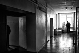 A doctor talking to a patient, Togliatti Russia 2011