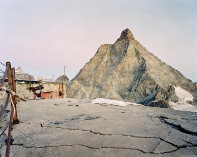 A view of the Matterhorn from the top of the Furggen ropeways, built in 1952 by carlo Mollino, abandoned in 1993. In Italy during the early 70's a growing enthusiasm towards the exploits of the national ski team during the Olympics and the World Championship, along with a general spread of wealth, led to the assumption that ski tourism was to be the solution to the depopulation process. Due to global warming, large-scale abuse and bankruptcy the Northern regions of Italy alone are home to 186 stopped skiing facilities, 4000 abandoned pylons and millions of cubic meters of concrete.