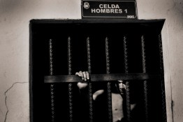Cells of the first police station in San Pedro Sula. Theft by prisoners and unidentified drug trafficking.