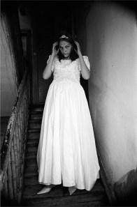 Marta on her wedding's day.