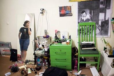 Yasmin at her room.