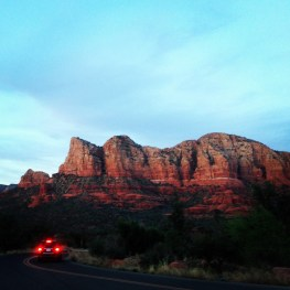 Dusk. Sedona, Arizona.
