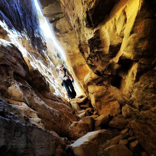 Slot Canyon. Chaco Canyon, New Mexico.