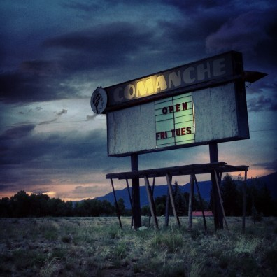 Comanche Drive-In Theater. Buena Vista, Colorado.