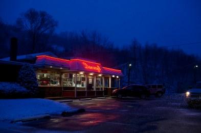 Danny's Softee Freeze on the outskirts of Ashland, Pennsylvania on Wednesday, February 8, 2012.