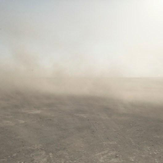 Mongolia, Gobi, Omongov, 2013 Coal dust raised by the wind in the Tavan Tolgoi Mine