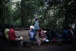 Ghana, Atwea mountain, a group of young people gathers to discuss and pray together