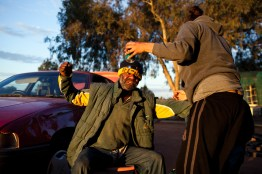 A violent outburst between an uncle and niece after an attempt to steal some alcohol. Stories of family violence with often tragic consequences caused by alcohol are incredibly commonplace in Wilcannia. David Maurice Smith/Oculi.
