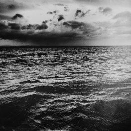 The North Atlantic, restless and overcast.