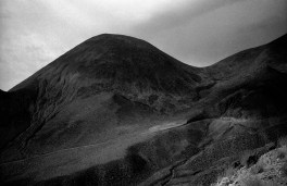 Volcanoes near the Geisers del Tatio.