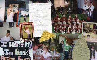 "Collage of material memorializing the murder of Arthur ""Art"" McElwee."