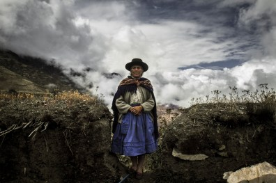 Chungui village woman attends to the cemetery to visit the grave of his family who passed away at the hands of members of Shining Path. Most of the citizens have Chungui deceased relatives during the domestic violence suffered Peru, especially Chungui during the years 1980 and 1995.