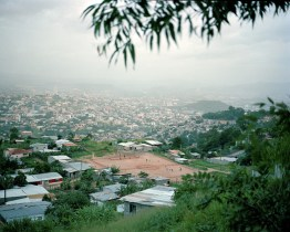 A soccer field in Tegucigalpa. (Dominic Bracco II / Prime for Pulitzer Center on Crisis Reporting)