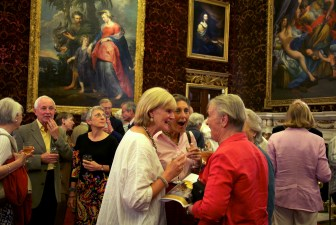 From the new book A Place in the Country. Holkham Estate. North Norfolk. Concert goers during the interval of a concert held in the Grat Hall.