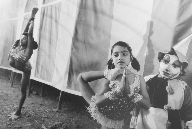 Pinky and Shiva Ji with Laxmi in the Background, Great Royal Circus, Junagadh, India, 1990