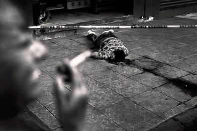 The dead Jose Arcon Buero in central Concepcion Medina neighborhood in the city of San Pedro Sula presumably a reckoning.