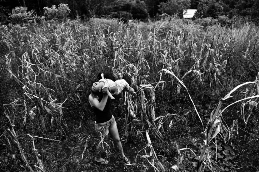 """09-04-2015 Pozo Azul, province of Misiones. Marilena is Estefania Vargas Mailin's mothers a little girl living in a """"Pozo Azul"""" area in the province of """"Misiones"""", just by fields cropped with transgenic corn where fields it is being continuously irrigated with glyphosate and other poisoning subtance."""