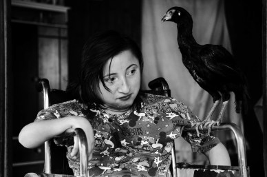 10-12-2014 San Vicente, province of Misiones Monica Gabriela Rais (21 years old) suffers from paraplegia and maturity retardation. Her mother gave birth to Monica while working in the tobacco farms, of February 13 at the age of 15.