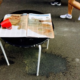 Day 5: Hunter St, Newcastle East: Coffee and a soggy newspaper. Must be Mondayitis!