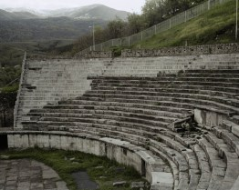 20.04.2014, Bitola, Macedonia. Heraclea Lyncestis, archeological site of ancient town established by Philip II of Macedon.
