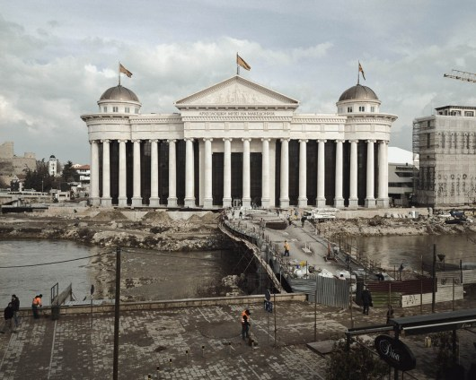 13.02.2013, Skopje, Macedonia. The construction site of the future Archeological Museum of Macedonia.