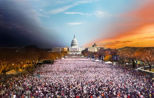 Presidential Inauguration, Washington DC, Day to Night, 2013