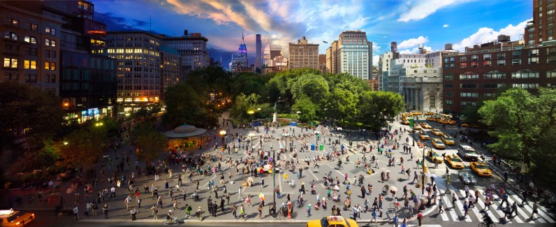 Union Square, NYC, Day to Night, 2012
