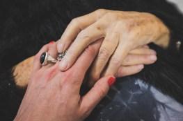Helga holding my hand. Bedburg, GERMANY, October 7, 2015.