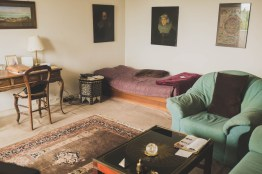 Helga's livingroom. Neuss, GERMANY, May 29, 2015.