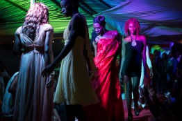 Contestants walk the runway at the Mister and Miss Pride competition. Kampala, Uganda. August 7, 2015. © Diana Zeyneb Alhindawi