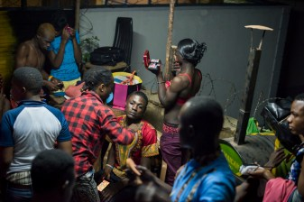 Contestants prepare backstage for the Mister and Miss Pride competition. Kampala, Uganda. August 7, 2015. © Diana Zeyneb Alhindawi