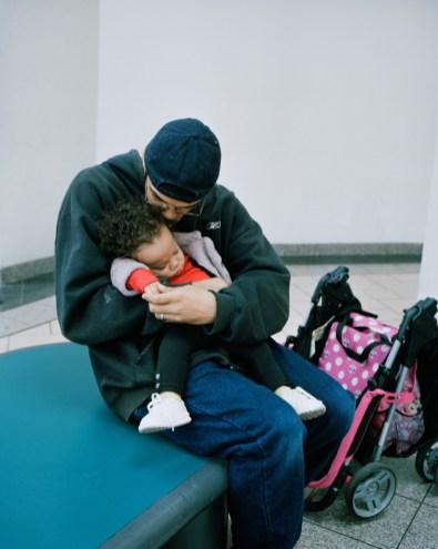 Matt, 27, with his 1 year-old daughter Elesa.