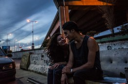 Buenos Aires, Isla Maciel. A. and K. sitted under the highway that crosses the port of Buenos Aires where they often spend time and sometimes sleep.