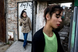 Buenos Aires, Isla Maciel. K. and one of her younger sisters in one of the alleys of the barrio. Many people doesn't have access to primary goods and doesn't have drinkable water at home. Drug deales are positioned on every corner. The youngsters are the most in danger.