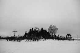 Hill of Crosses, a site of pilgrimage. Near Šiauliai, 23rd of February 2018.