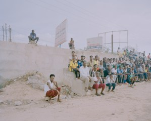 Viewers at a football match at the Djigdjiga Yar Stadium in Hargeisa, Somaliland.