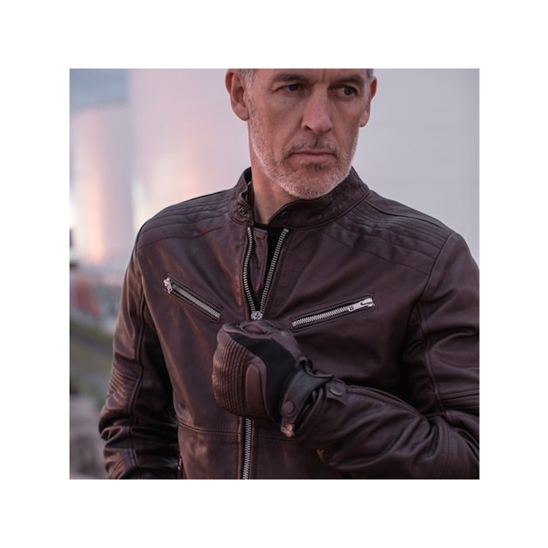 Spidi Garage Leather Jacket Burnoutmotor