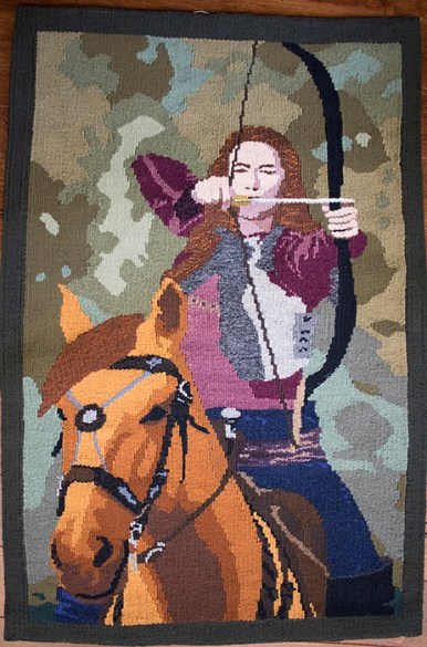 Tapestry Fréo Ellenlic: Brave and Valiant Woman 43 x 28.5 inches