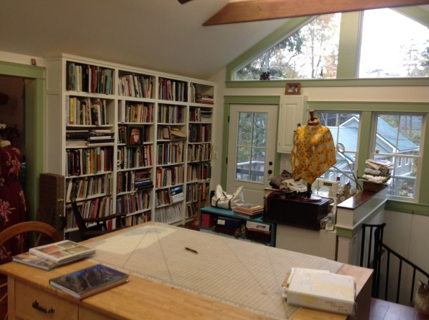 Library and sewing area